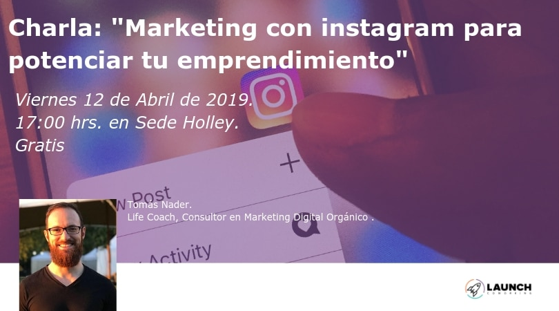 "Charla:""Marketing con instagram para potenciar tu emprendimiento"""