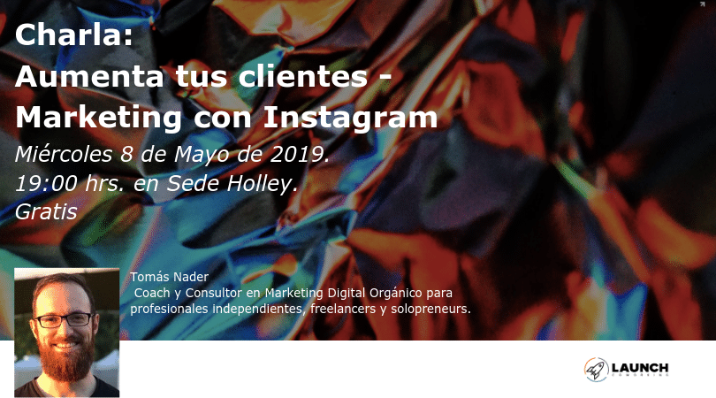 Charla: Aumenta tus clientes – Marketing con instagram